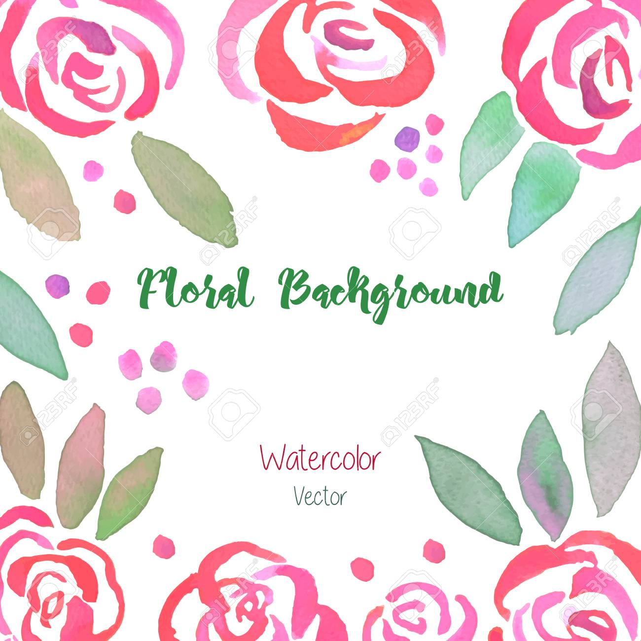 invitation card with hand made watercolor pastel vintage roses royalty free cliparts vectors and stock illustration image 62044773
