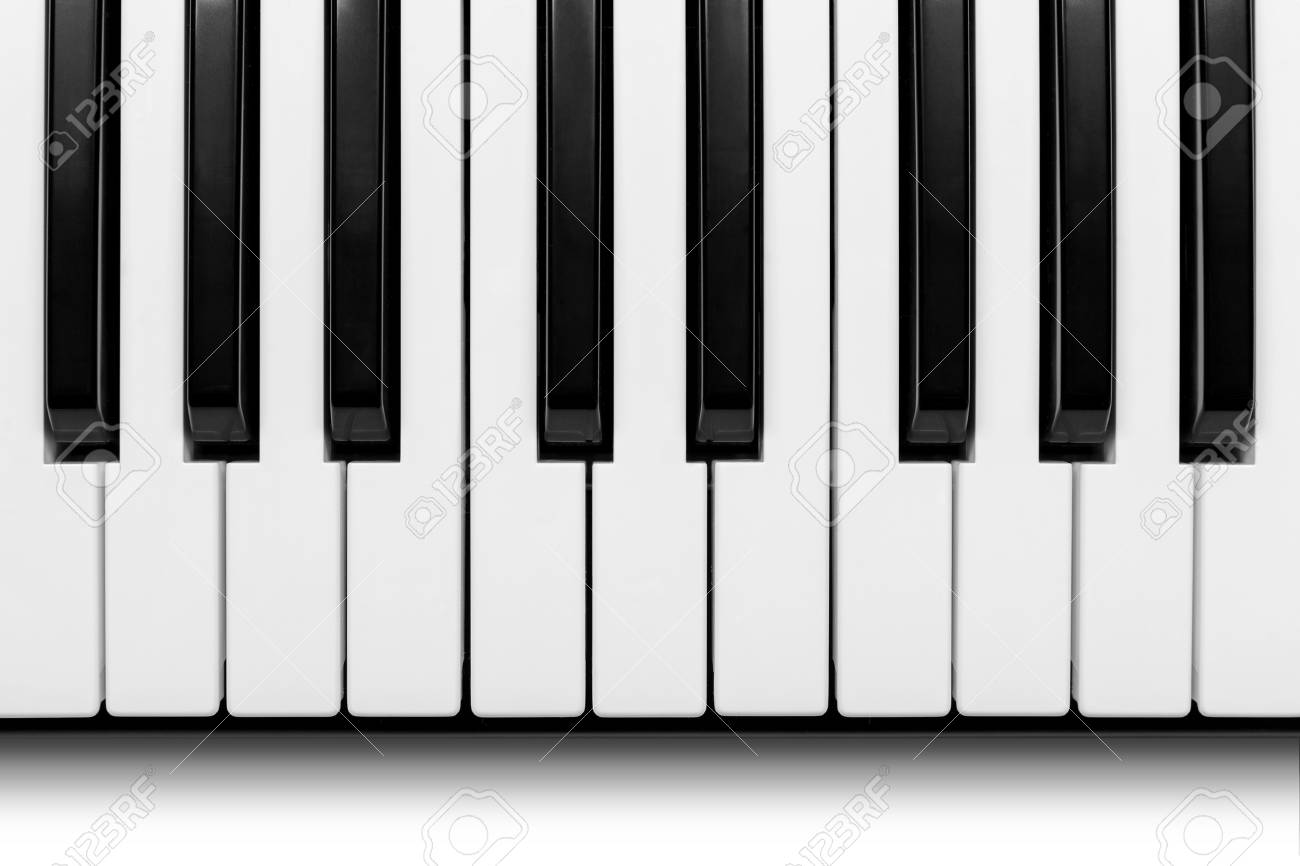 piano keys viewed from