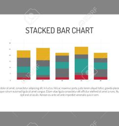 editable infographic template of stacked bar chart multicolored sample text stock vector 51164072 [ 1300 x 812 Pixel ]
