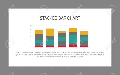 small resolution of editable infographic template of stacked bar chart multicolored sample text stock vector 51164072