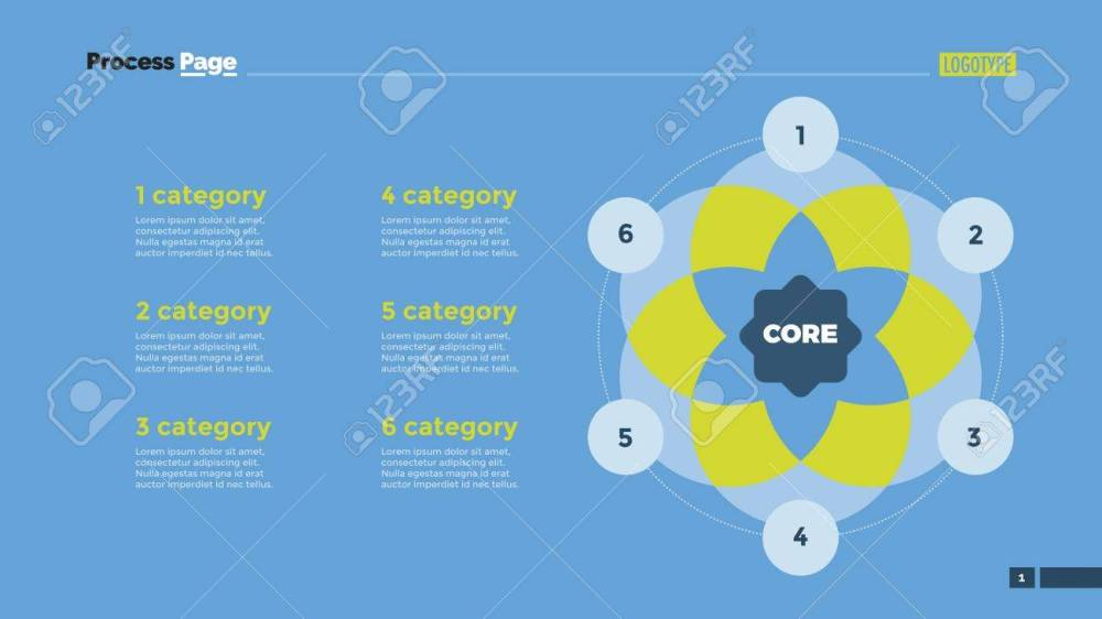 medium resolution of venn diagram with six circles element of presentation diagram layout concept for
