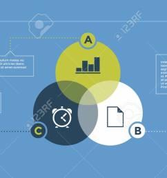 infographic venn diagram with abc letters element of layout presentation diagram concept [ 1300 x 731 Pixel ]