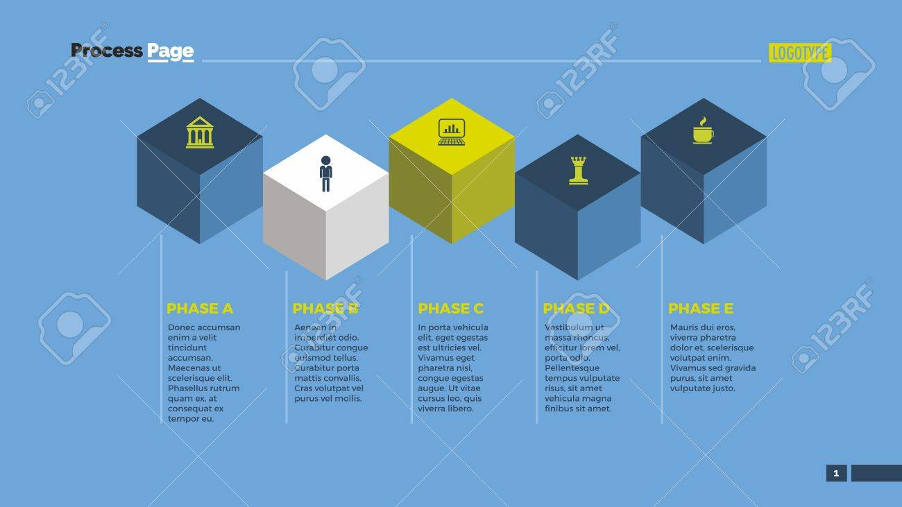 hight resolution of cube infographic diagram element of presentation step diagram chart concept for infographics