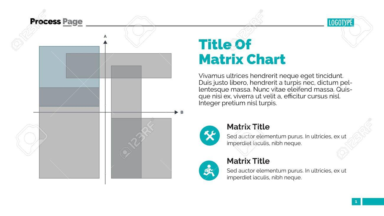 matrix chart slide template