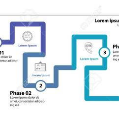 three phase flow chart slide template element of diagram infographic flowchart concept [ 1300 x 731 Pixel ]