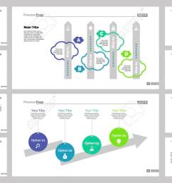 diagram template set can be used for workflow layout annual report web design  [ 1300 x 764 Pixel ]