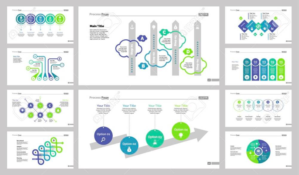 medium resolution of diagram template set can be used for workflow layout annual report web design