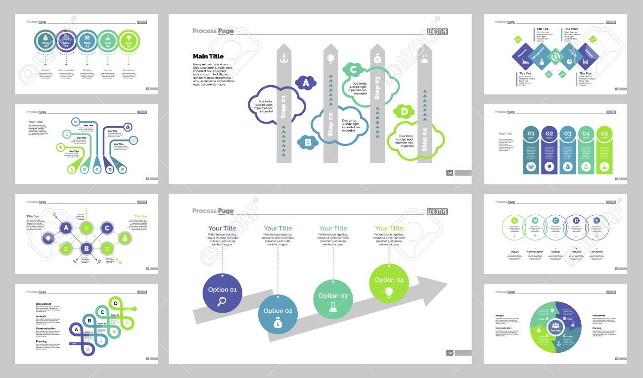 hight resolution of diagram template set can be used for workflow layout annual report web design