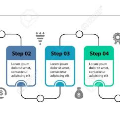 five steps process chart slide template business data flow diagram design  [ 1300 x 731 Pixel ]