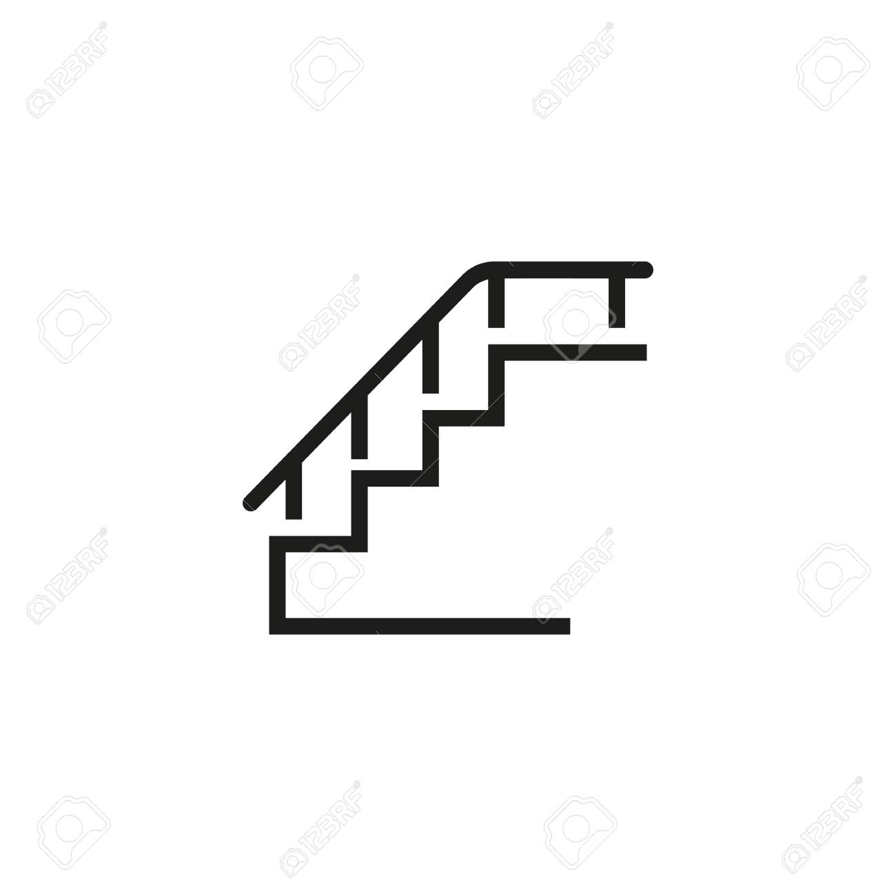 hight resolution of step staircase stairway walking concept can