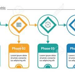 four options process chart slide template business data flow diagram design  [ 1300 x 731 Pixel ]
