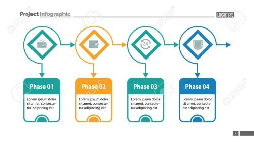 small resolution of four options process chart slide template business data flow diagram design