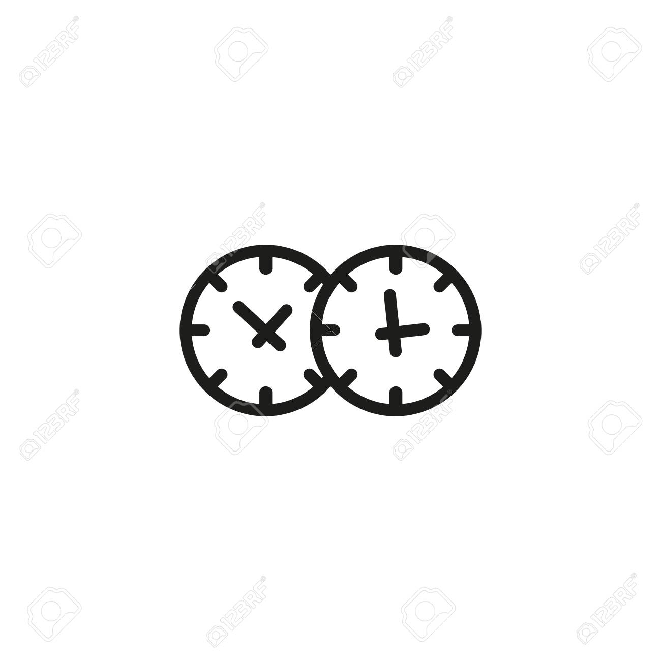 trading hours line icon