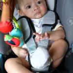 Cute Baby Boy Child Sitting In Car Seat With Safety Belt Locked Stock Photo Picture And Royalty Free Image Image 121832750