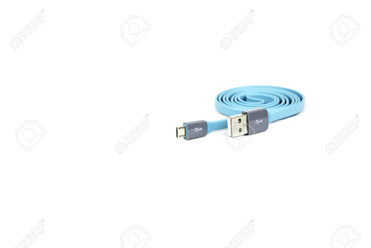 hight resolution of mini usb connector cable blue color stock photo 52418158