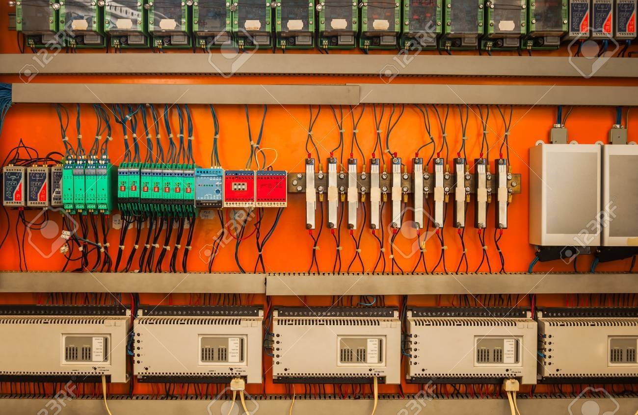 hight resolution of industrial fuse box on the wall closeup photo stock photo 19008630