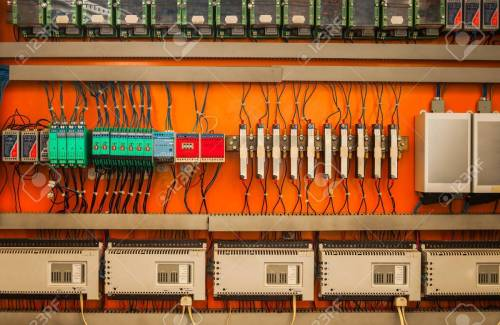 small resolution of industrial fuse box on the wall closeup photo stock photo 19008630