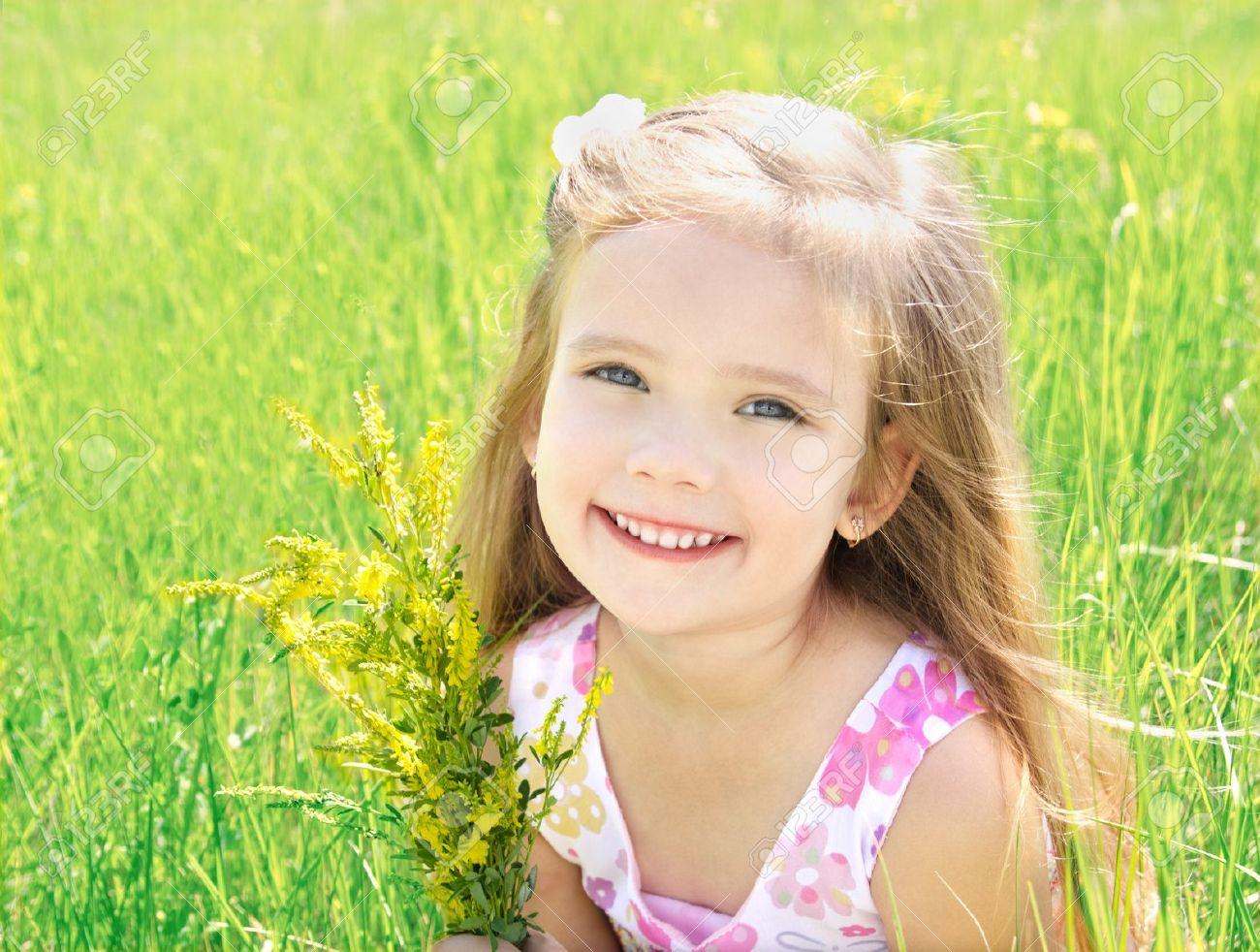 cute little girl on