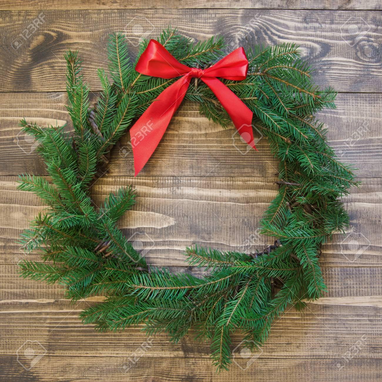 christmas wreath with fir