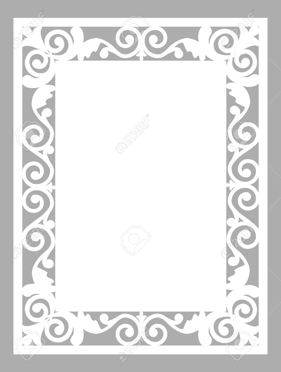 pattern frame template for