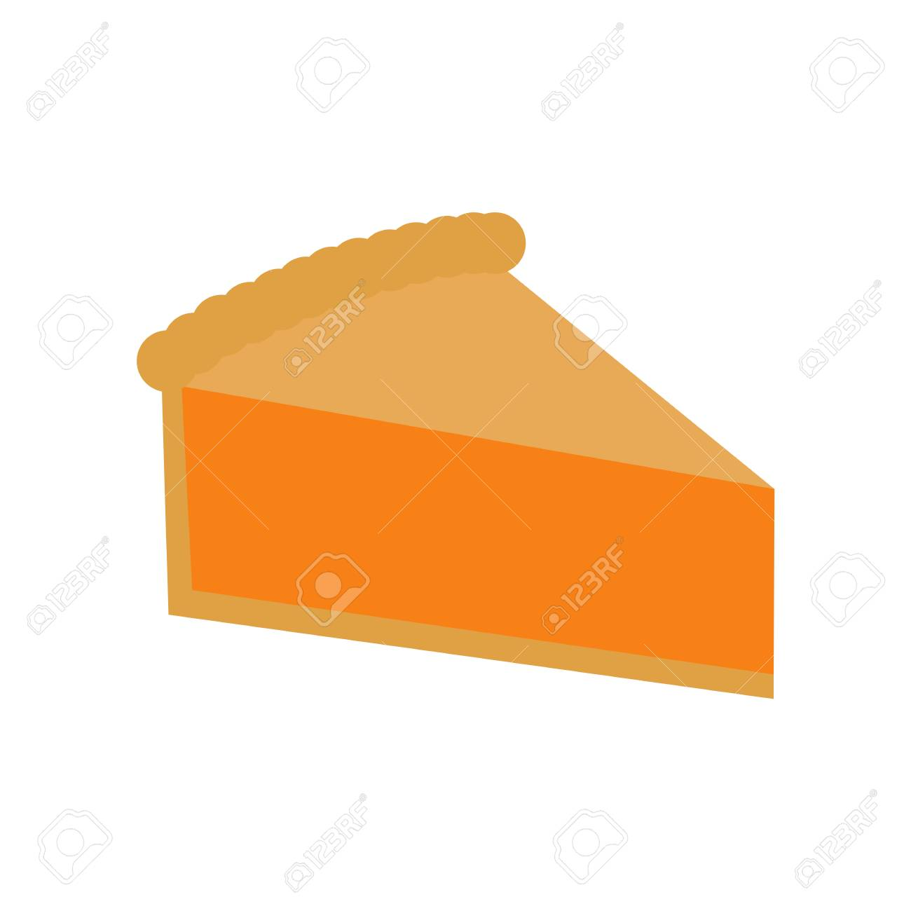 hight resolution of simple pumpkin pie slice stock vector 88055920