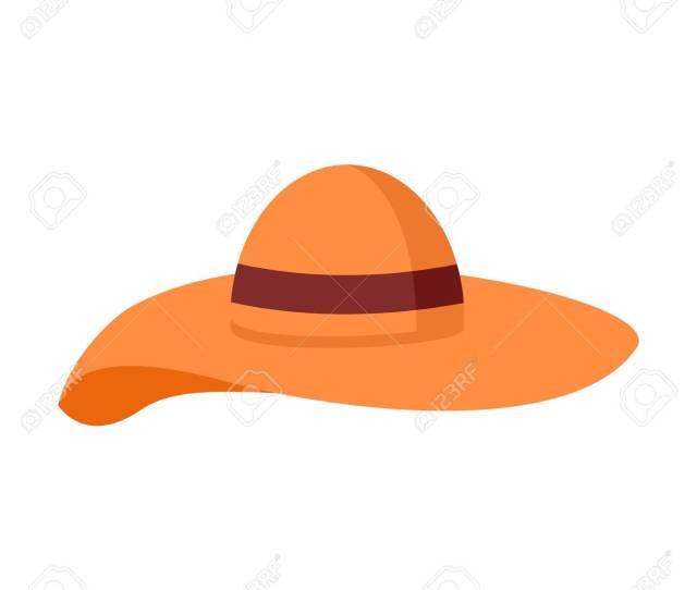 Big Floppy Hat Summer Stuff Vector Illustration Symbol Graphic Design Stock Vector 109129758