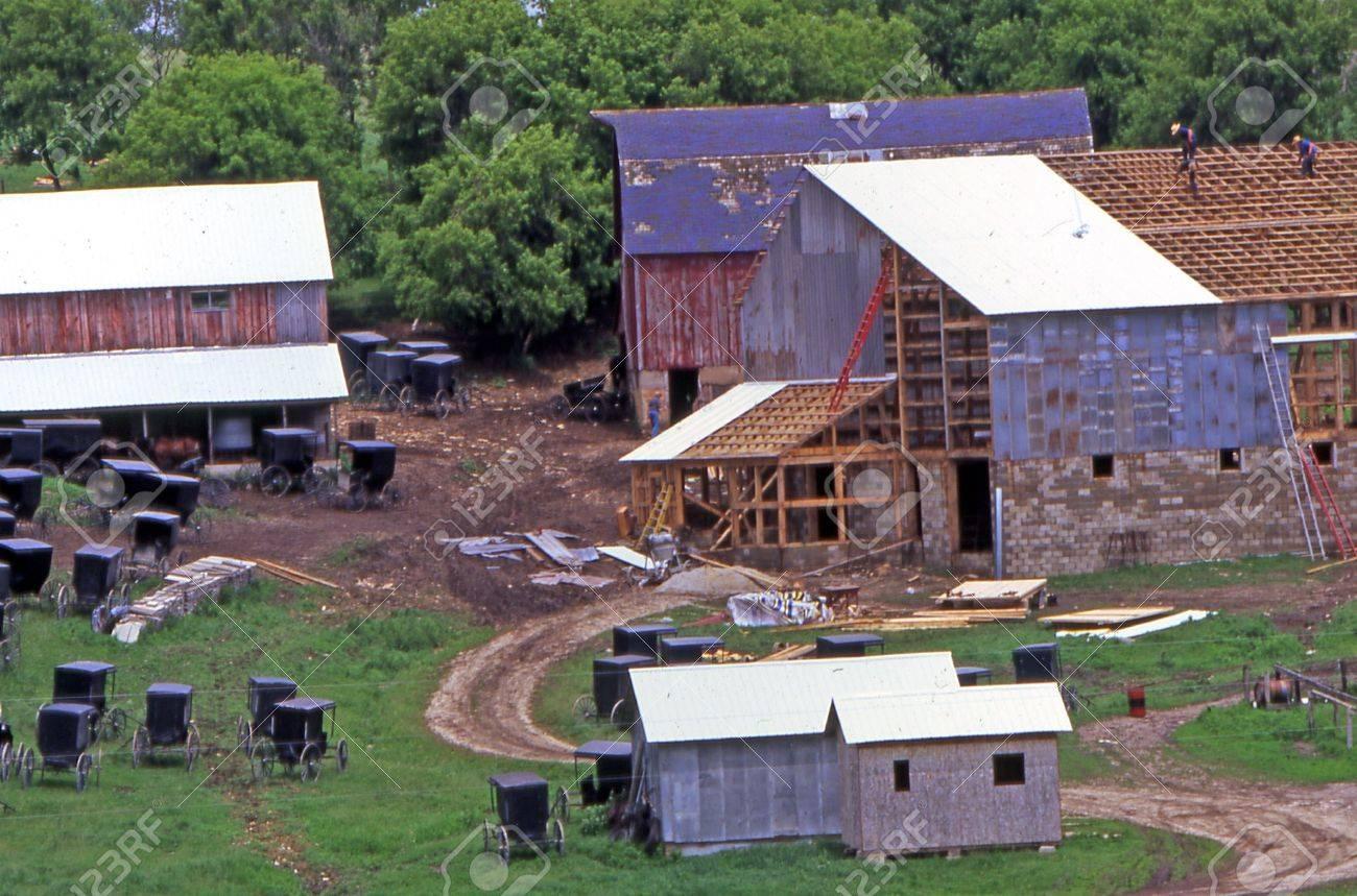 minnesota amish barn raising
