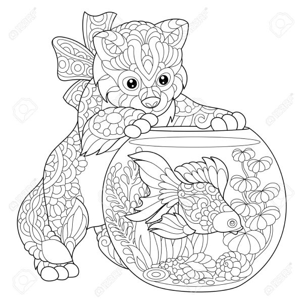 goldfish coloring page # 14