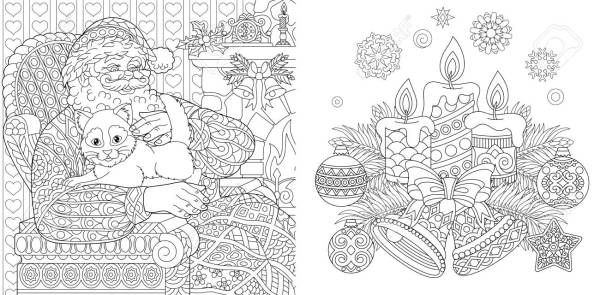 christmas coloring book pages # 37
