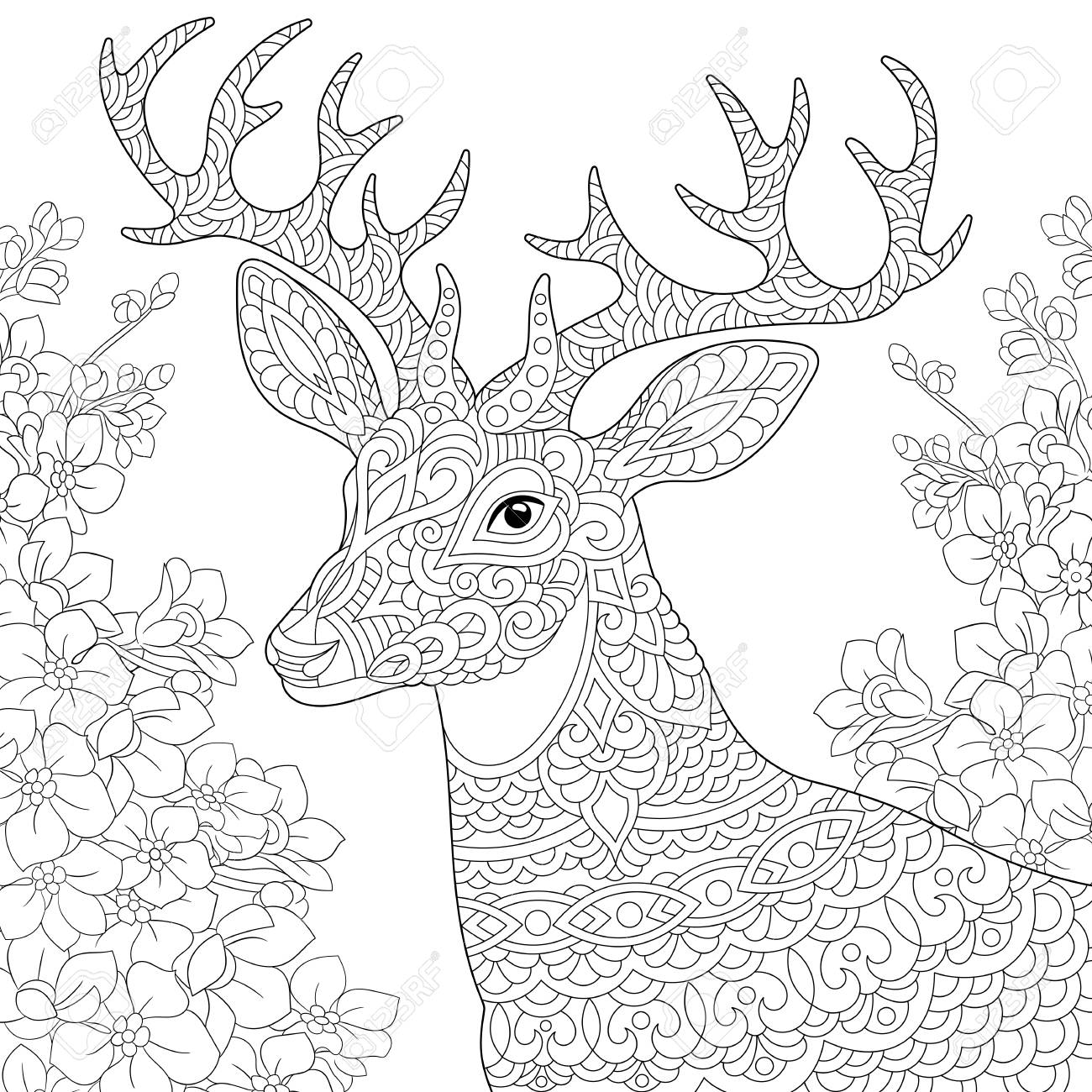 Coloring Page Coloring Book Anti Stress Colouring Picture With Royalty Free Cliparts Vectors And Stock Illustration Image 119294525
