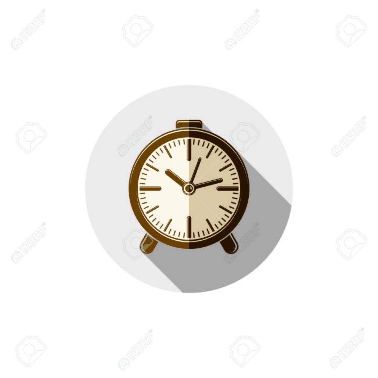 c41e7d657484 Despierta Idea Ilustración Clásico Tridimensional Reloj Despertador Aislado  En Blanco Reloj De Mesa