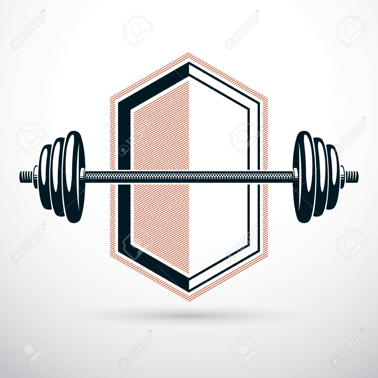 barbell vector illustration isolated