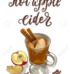 hot apple cider stock vector 70142470 [ 922 x 1300 Pixel ]