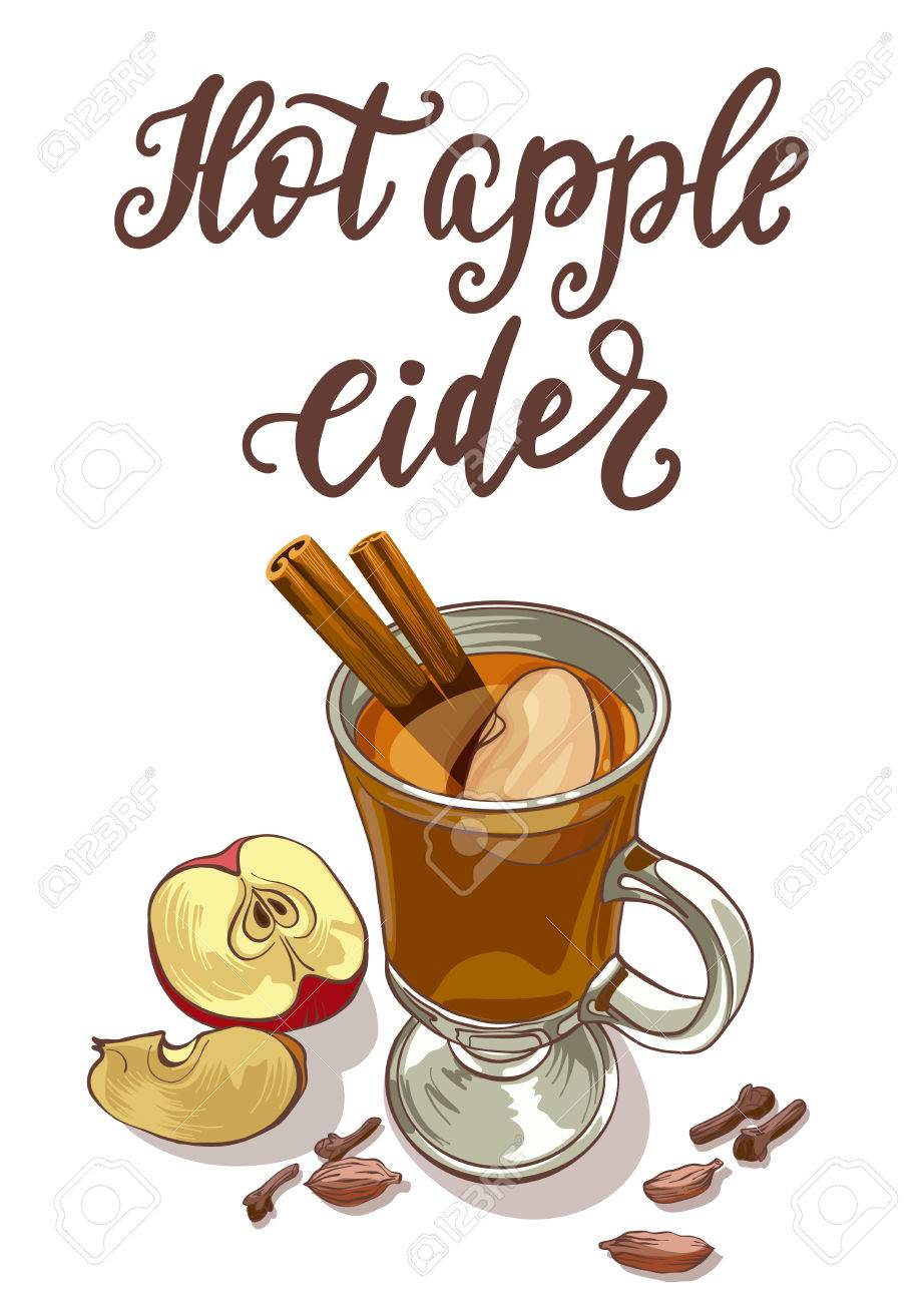 hight resolution of hot apple cider stock vector 70142470