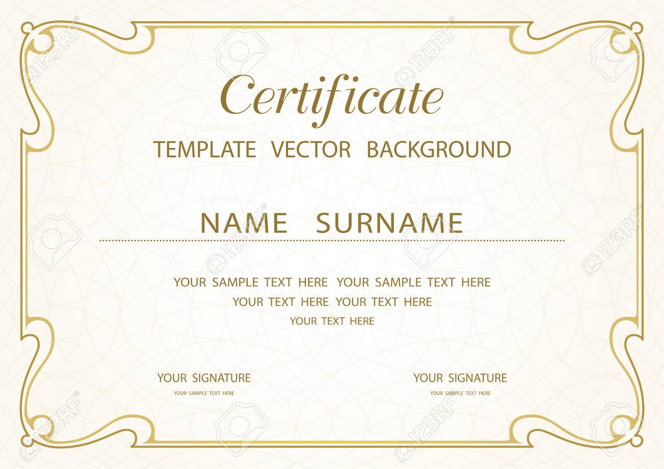 Certificate Of Completion Template Stock Vector - 33278626