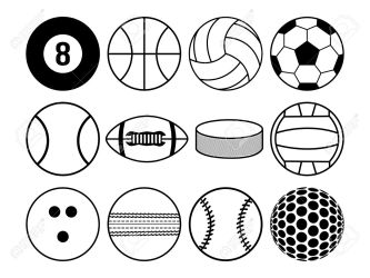 Sports Balls Black And White Royalty Free Cliparts Vectors And Stock Illustration Image 20327467