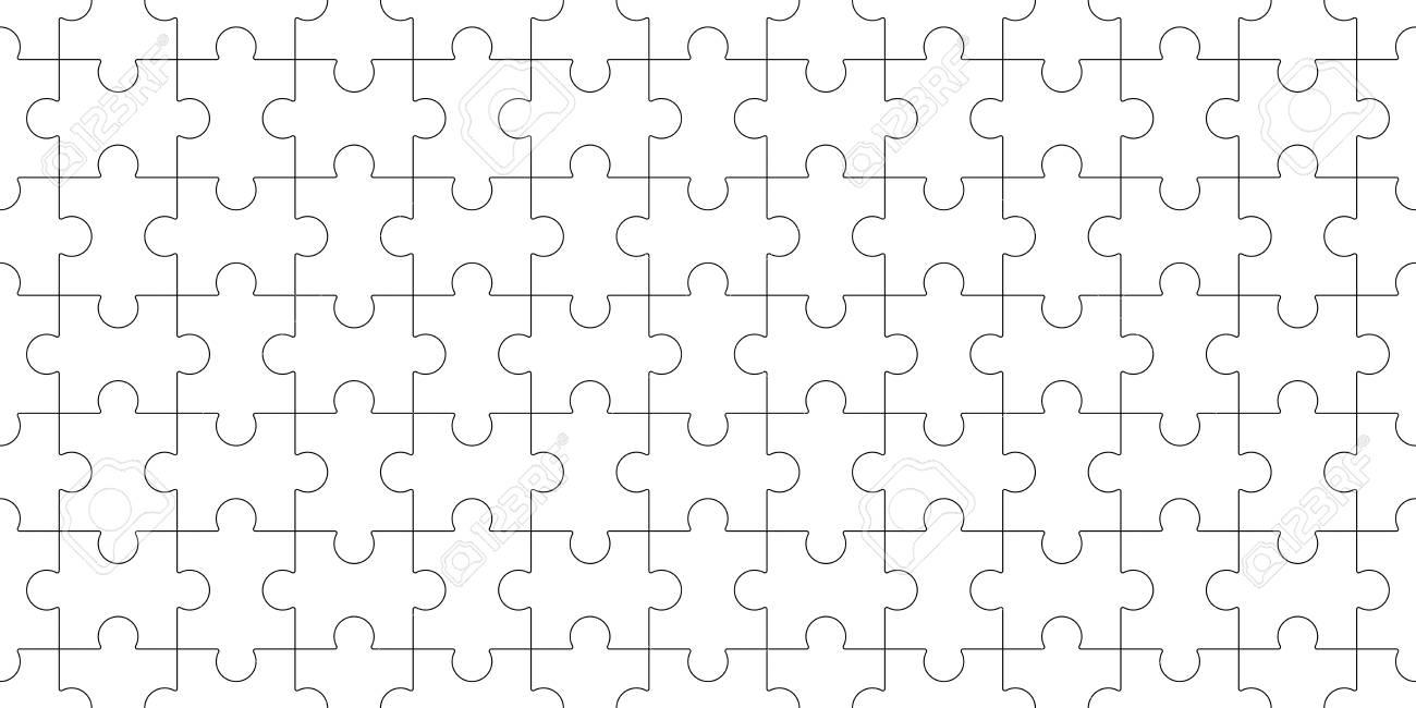 Jigsaw Puzzle Blank Template Seamless Puzzle Pattern Mosaic