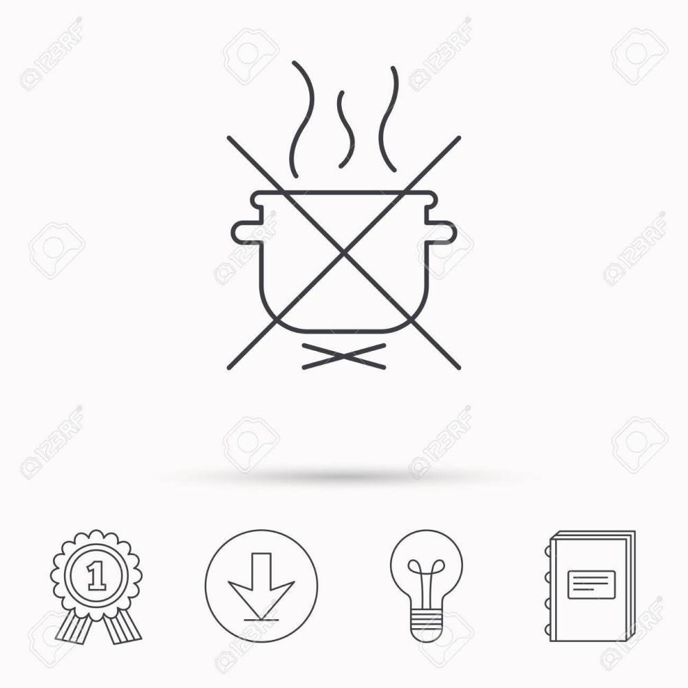 medium resolution of boiling saucepan icon do not boil water sign cooking manual attenction symbol download
