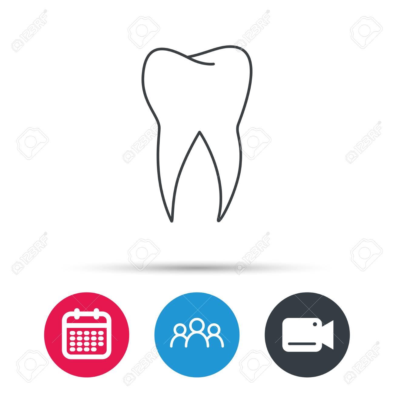 tooth icon dental stomatology
