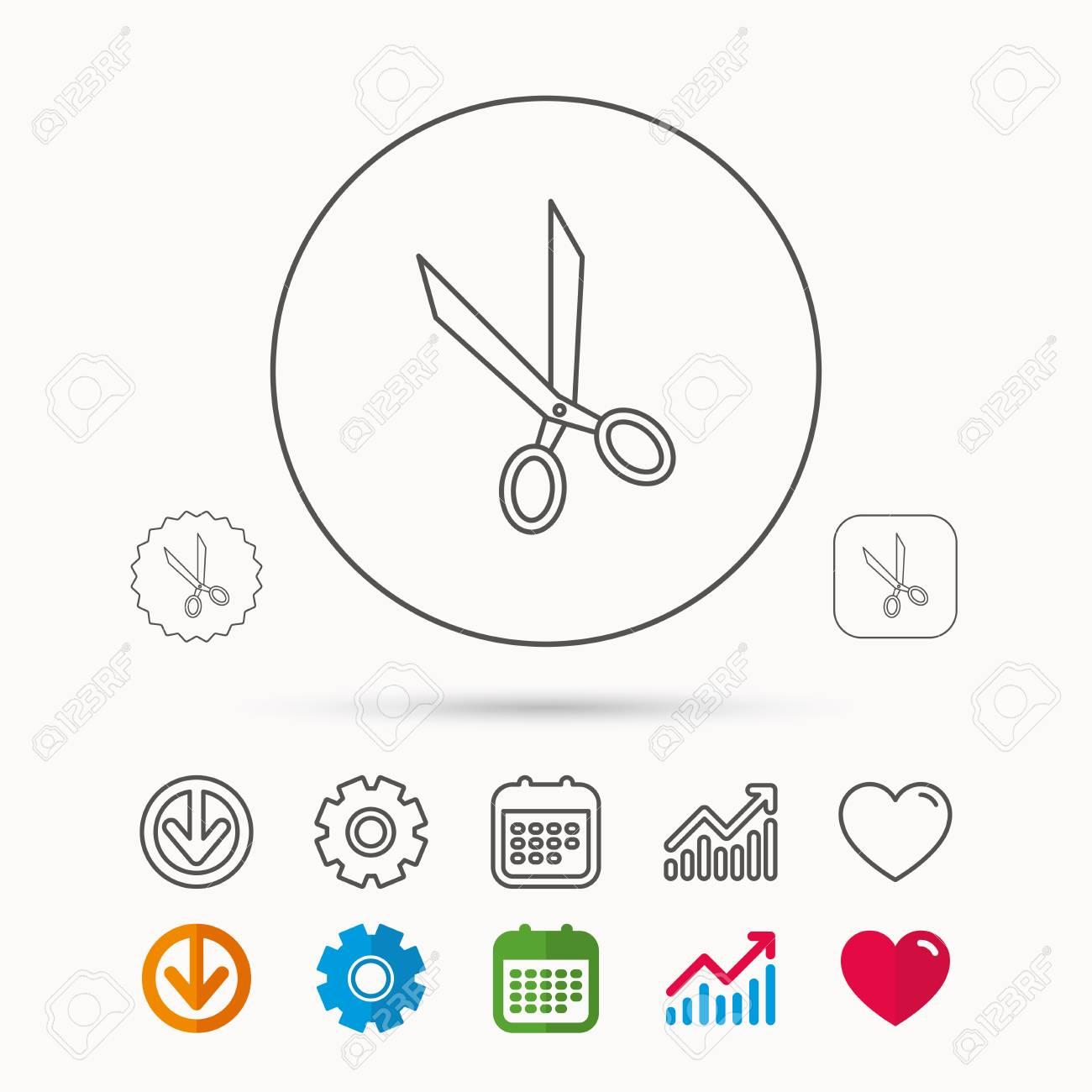 tailor scissors icon hairdressing