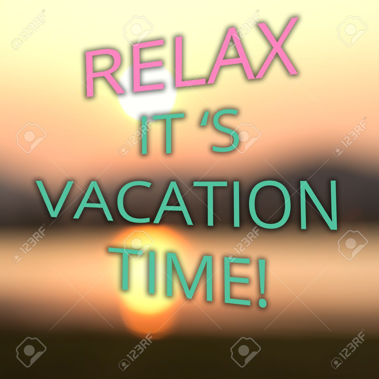 Summer Vacation Poster With Text Relax It S Vacation Time On Stock Photo Picture And Royalty Free Image Image 44232606
