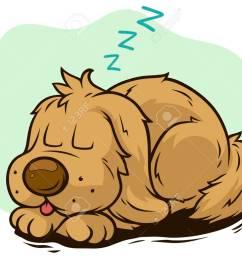 cartoon cute sleeping dog showing tongue stock vector 101808561 [ 1300 x 1038 Pixel ]