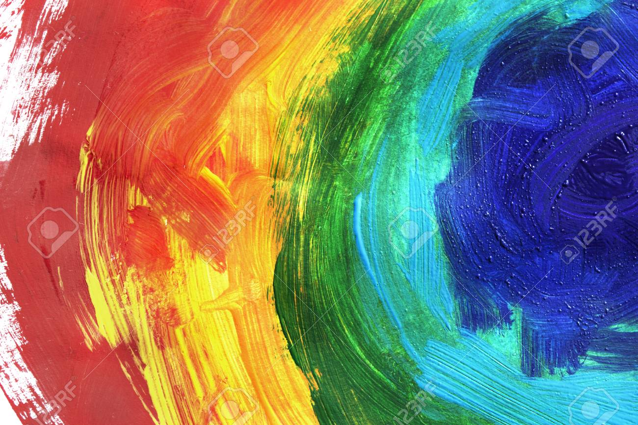 rainbow colors abstract acrylic