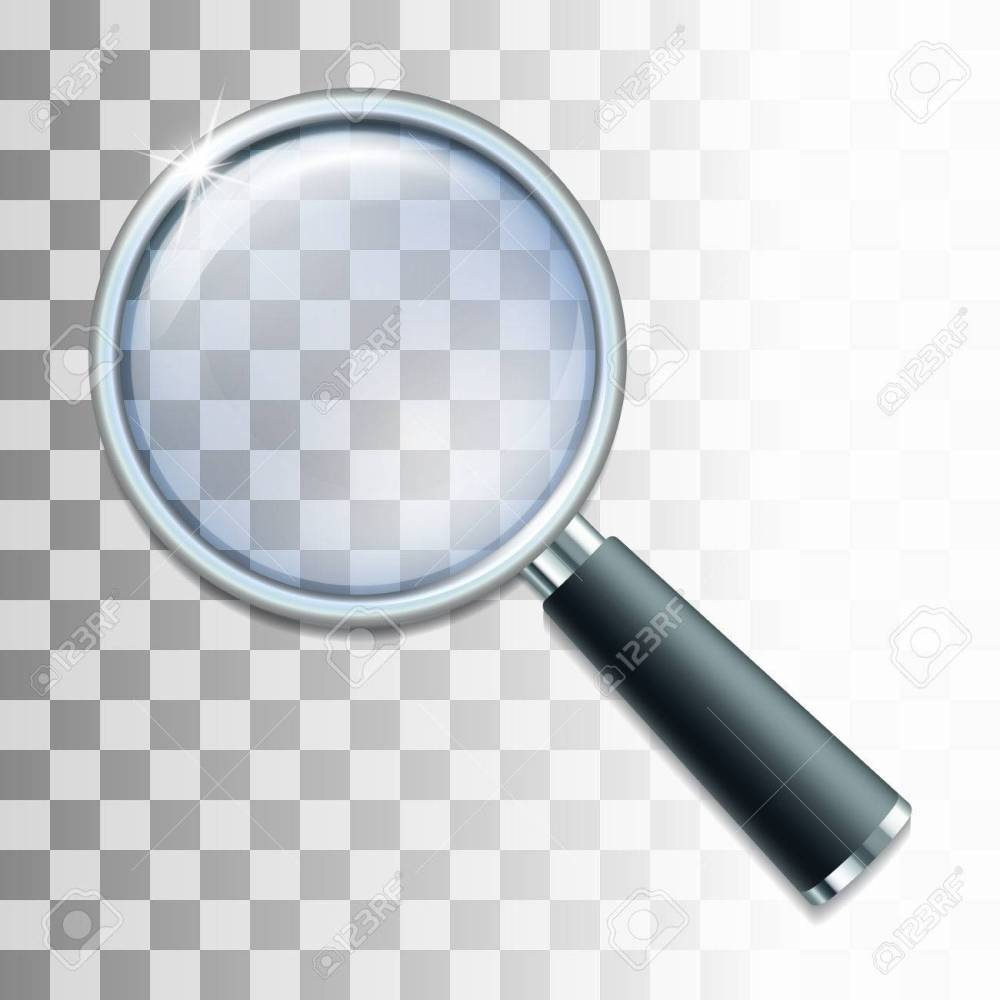 medium resolution of magnifying glass on transparent background vector illustration stock vector 61860942