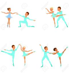 boy and girl ballet dancers stock vector 74084185 [ 1300 x 1300 Pixel ]