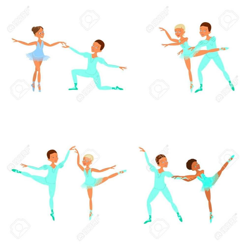 medium resolution of boy and girl ballet dancers stock vector 74084185