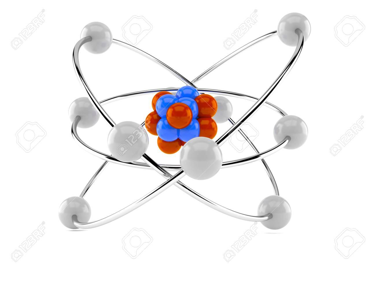 hight resolution of atom model isolated on white background stock photo 81306117