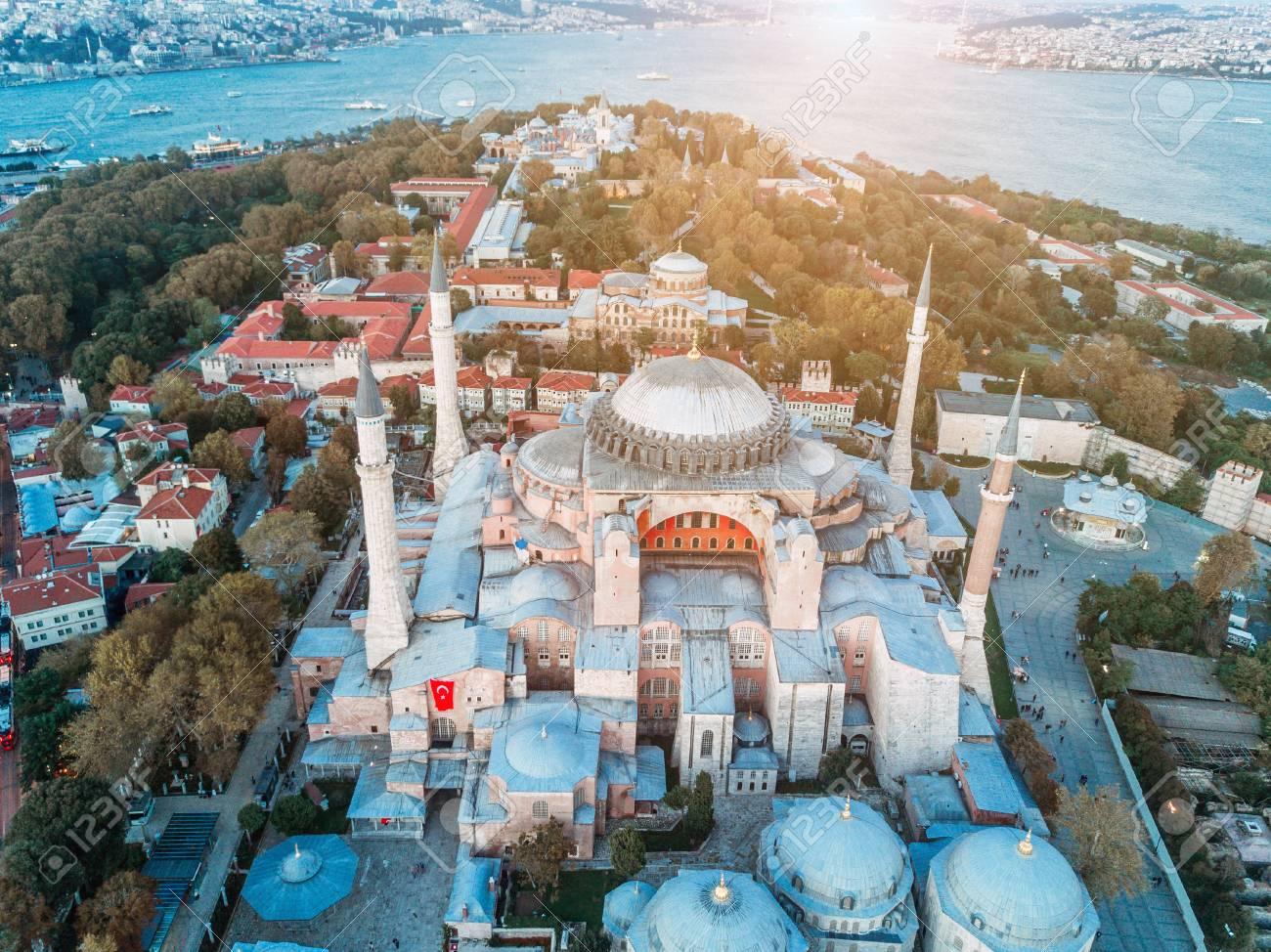aerial footage of sultanahmet