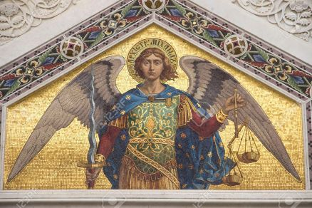 Mosaic Of Saint Michael On The Facade Of Serbian Orthodox Church In Trieste  Stock Photo, Picture And Royalty Free Image. Image 36395509.