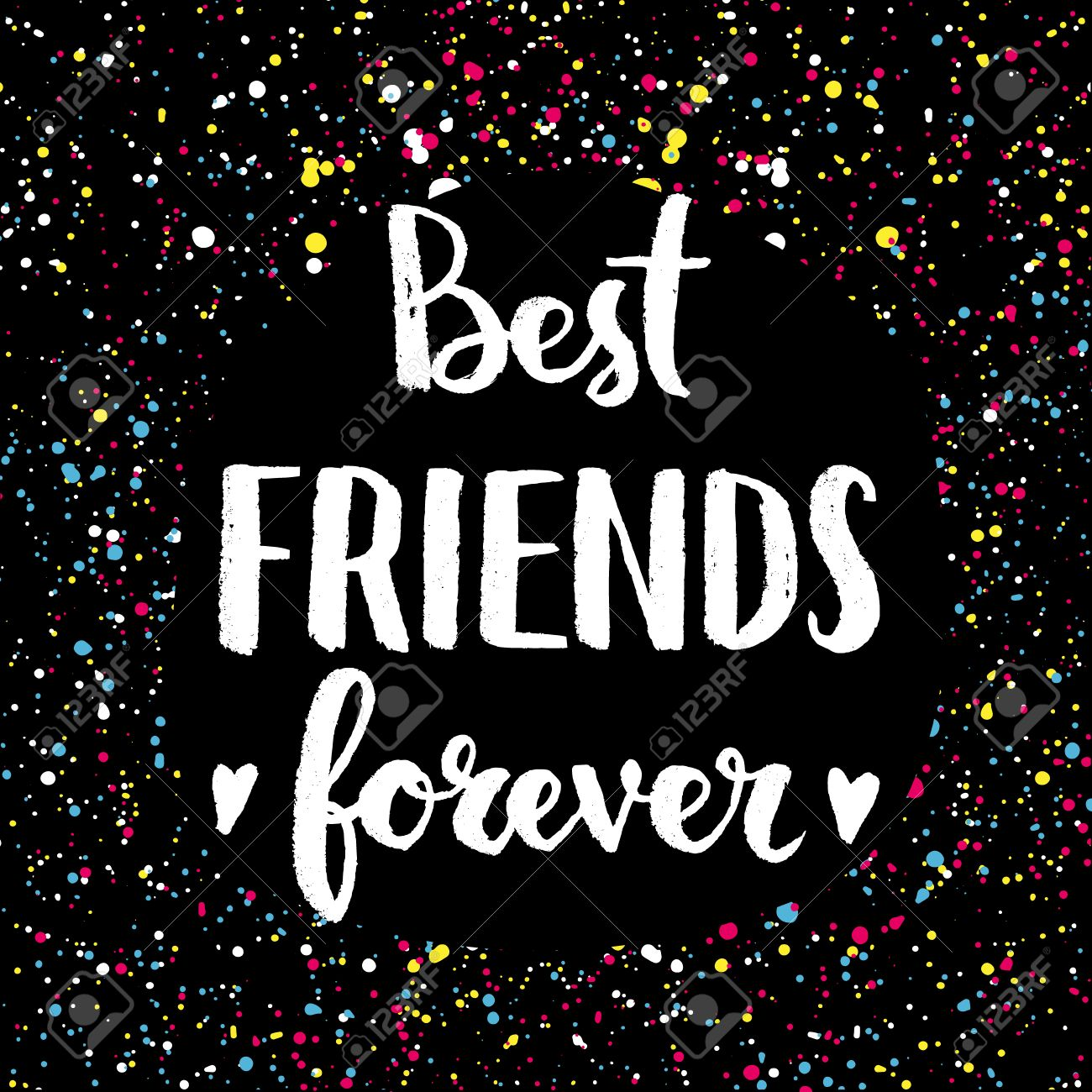 Best Friends Forever Hand Lettering Quote On A Creative Vector Royalty Free Cliparts Vectors And Stock Illustration Image 41455886